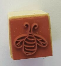 Wood Backed Rubber Stamp Bumble Bee Whispers