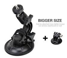 4GEE Action Camera Car Holder Stand Cup Suction - HEAVY DUTY Mount Action Cam EE