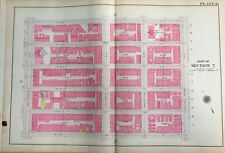 1909 GW BROMLEY, P.S. 54, P.S. 179, UPPER WEST SIDE,MANHATTAN NY PLAT ATLAS MAP