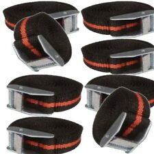 8 X BLACK/RED CAM BUCKLE TIEDOWN CARGO STRAP 2.5M X 25MM Weather Resistant strap