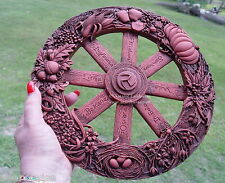 WHEEL OF THE YEAR WALL PLAQUE Wicca Witch Pagan Goth Punk New Age Craft Hedge