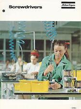 Atlas Copco Organization Sweden Screwdrivers 1972 Brochure/ Catalog
