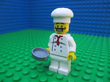 Lego Movie GORDON ZOLA Italian Chef Cook Minifigure Figure Fry Pan City 70805
