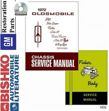 1972 Oldsmobile F85 98 Delta 88 Mechanic Workshop Service Repair Manual CD OEM