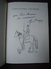Yves BRAYER lithographie signée+dessin original! GIONO CORRIDA PROVENCE CAMARGUE