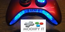 LED BOWTIE BUMPER KIT FOR XBOX 360 CONTROLLER RAINBOW NEON BLUE ORANGE WHITE RED