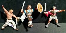 Papo Viking Barbarian vs Roman Army 3pc Figure lot Julius Caesar Gaul Warrior NW