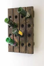 Wine Riddling Rack Distressed Wood Winerack Handcrafted in USA