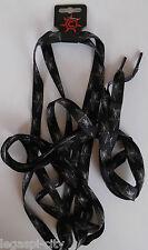 1 Paar Schnürsenkel,Shoelaces Rapper,Gothic,Punk oversize 172x1,1 cm Spinnennetz
