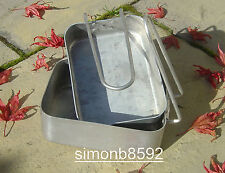 BRITISH ARMY SURPLUS ISSUE ALUMINIUM MESS TIN COOKING SET-PARA/CADET/SURVIVAL/UK