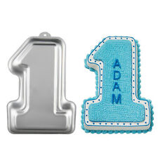 3D Number One 1 Cake Pan Tin Fondant Mold Tray DIY Bakeware First Birthday Party