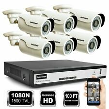 ISEEUSEE 1080N 8CH HD DVR 1500TVL IR In/Outdoor Home Camera CCTV Security System