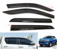 WIND DEFLECTOR WEATHER SUN SHIELD FOR NEW TOYOTA HILUX REVO PICKUP 2015-2016 15