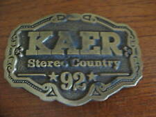 Vintage Country Radio Station KAER Stereo 92 Belt Buckle ~ Marked One of 2500