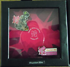 LONDON 2012 OLYMPICS 2 PIN BADGE VENUE SET MOUNTAIN BIKE WINDOW BOX RIO