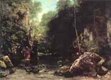 Métal signe Gustave Courbet le flux ombragée le ruisseau du puits noir 5 A4 1