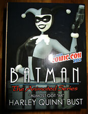 NYCC 2015 BATMAN THE ANIMATED SERIES HARLEY QUINN B&W BUST ALMOST GOT IM LE 1500