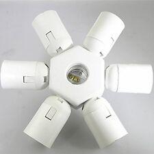 7 in 1 E27 to E27 Light Lamp Bulb Base Holder Socket Splitter Adapter Converter