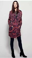 Free People Sensual Printed Paisley Duster Robe Sz L