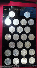 1921-P TO 1935-S  Peace Dollar Set ( 24 COINS 90 % SILVER ) CAPITAL HOLDER NICE