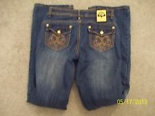 Womens juniors DEREON DISTRESSED jeans size 5/6 MUST SEE & BUY EM