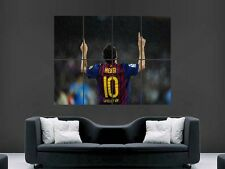 LIONEL MESSI WALL ART PICTURE POSTER   GIANT HUGE BARCELONA FC  FOOTBALL  (G26)