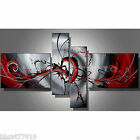 Hand Painted Oil Painting Modern Abstract Black and Red Canvas Wall Art Decor