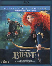 Brave (Blu-ray/DVD, 2012, 3-Disc Set, Collector's Edition) VG