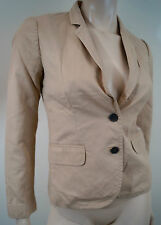 J CREW SCHOOLBOY Beige V Neck With Lapels Long Sleeve Casual Blazer Jacket Sz:0