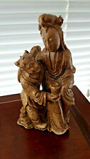 Vintage Signed Chinese Soapstone Figurine Carving