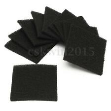 10PCS Black Square Universal Activated Carbon Foam Sponge Air Filter Pads Set