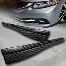 JDM 283MM Carbon Style Bumper Lip Side Scratch Protector Strip Guard Universal 5