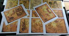 14 x A3 Tattoo flash sheets set 7