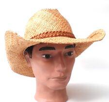 Cappello da cowboy Cappello di paglia Cappello western UNISEX Paglia naturale