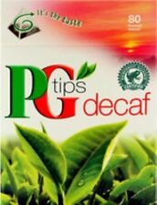 PG Tips Decaffeinated 80 Teabags (Pack of 3, Total 240 Teabags) Brand New