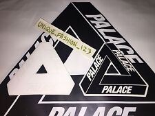 2 PALACE SKATEBOARDS BLACK WHITE TRI FERG STICKER SS15 TRI FLAG TRIANGLE SS16