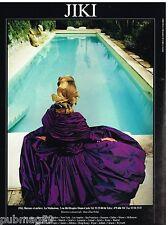 Publicité Advertising 1988 Haute Couture Jiki (recto verso)