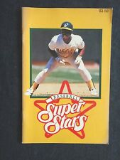 Memorabilia Baseball Super Stars Book 1990 Ricky Henderson Oakland + 11 others