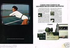 Publicité advertising 1985 (2 pages) Camera Video Canon VC 200