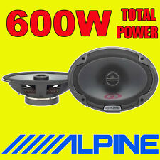 "ALPINE 6""x9"" 6x9 600W 2-way SPG car rear deck oval shelf speakers brand new pair"