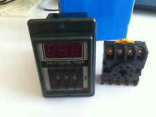 AC 220V Power ON Delay Timer Time Relay 1-999 Seconds+base socket