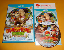 DONKEY KONG COUNTRY Tropical Freeze Nintendo Wii U Video Game Complete