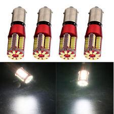 4Pcs 12V 24V T11 T4W BA9S 3014 57SMD Canbus LED Error Free Led Light Bulb White
