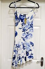 BNWT STUNNING Women's ROBERTO CAVALLI Blue Floral DESIGNER DRESS SIZE MEDIUM M