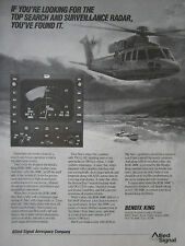 1/89 PUB ALLIED SIGNAL BENDIX KING RDR-1400C COLOR WEATHER RADAR SAR SIKORSKY AD