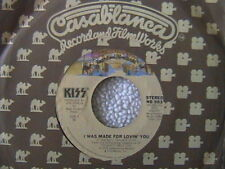"KISS ""I WAS MADE FOR LOVING YOU"" / ""HARD TIMES"" 7"" 45 1979 MINT"