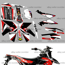 red white black race decal sticker kit for aprilia sxv rxv motorcycle