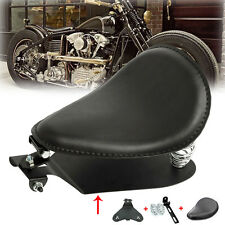 Motorcycle Leather Solo Seat Spring Bracket Base Mounting Bobber Chopper Custom