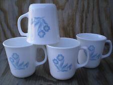 Corelle Dishes Cornsilk White Flared Suprema Cups Mugs Set Of 4