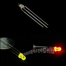 50 x 3mm Dual Bi-Color Red green Bright 3-Pin Water Clear bulb Led Common Anode